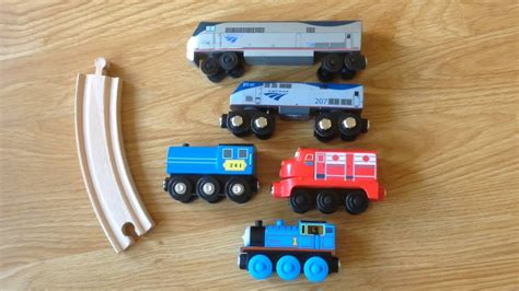 amtrak wooden railway toy review youtube