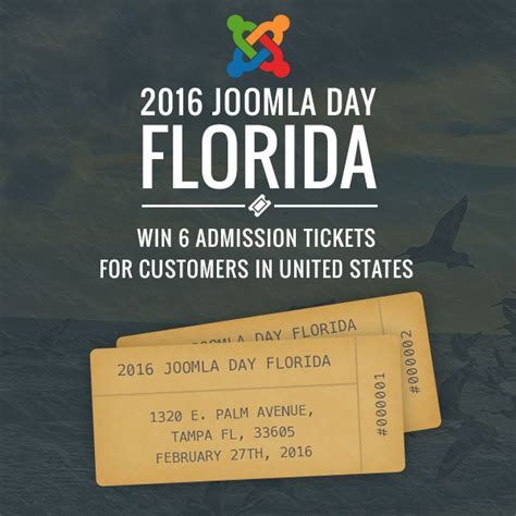 Ticket Giveaway Ideas - joomla day florida 2016 admission tickets giveaway joomla blogs news and extensions