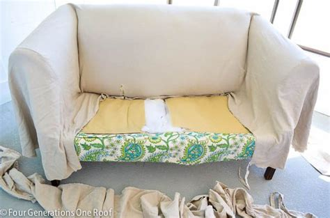 Diy Reupholster Sofa by How To Reupholster A Quot No Sew Quot