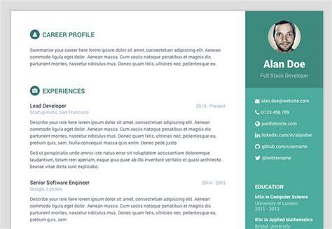 %name modern resume template   Hongdae Modern Resume Template