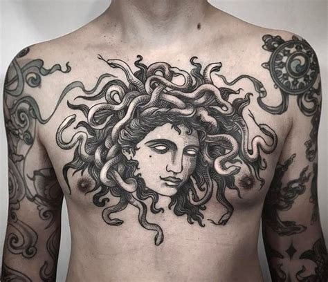 medusa chest tattoo medusa these 35 ideas will either scare you or