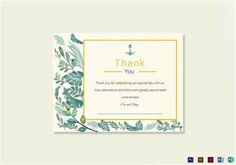 thank you card illustrator template nautical thank you card template in psd word publisher