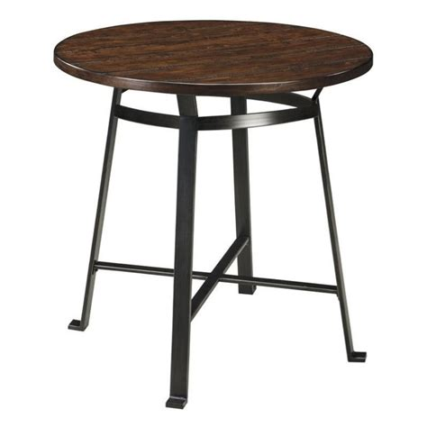 Rustic Bar Height Dining Table Challiman Bar Height Dining Table In Rustic Brown D307 12