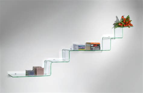 mensole moderne design mensole in vetro curvato soluzioni di design per la tua