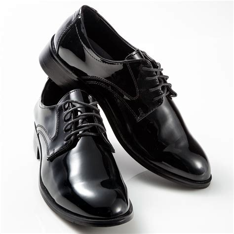 tuxedo shoes patent leather black toe mens