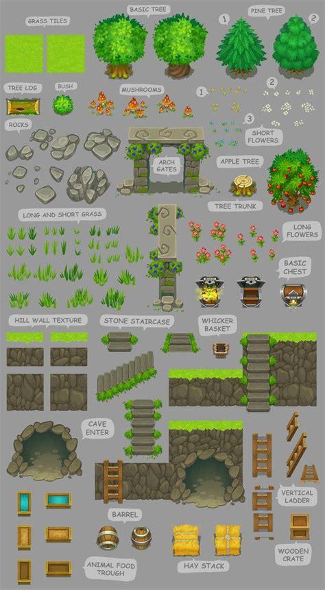 tutorial c game 160 best 2d tilesets game elements images on pinterest