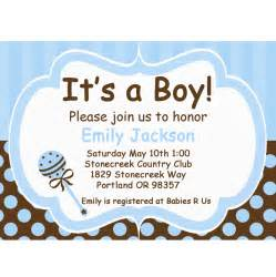 baby boy blue and brown diy printable invitation baby shower baby shower ideas