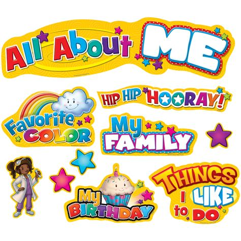 About All all about me mini bulletin board display set tcr5334