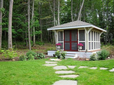 backyard screen house backyard screen house maine plant a garden believe in