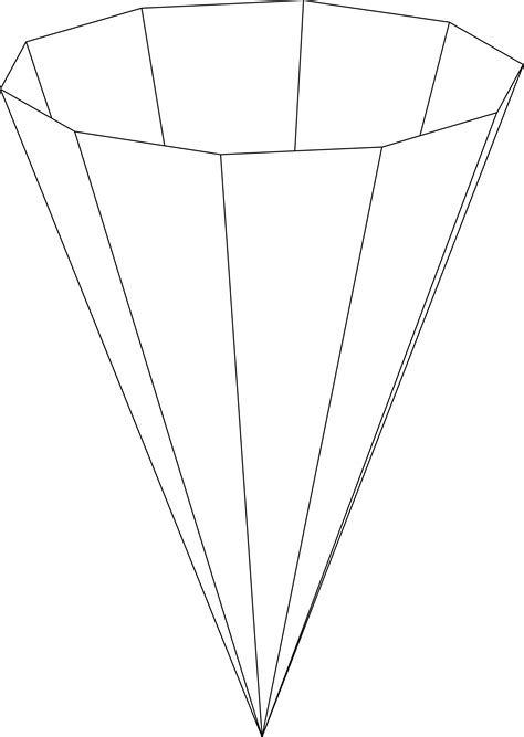 inverted decagonal pyramid clipart