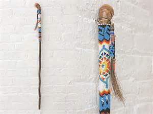 vintage native american walking stick