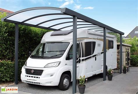 Carport Aluminum 837 by Carport En M 233 Tal Mon Am 233 Nagement Jardin