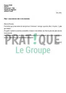 Modèles De Lettre D Invitation Gratuite Lettre De Remerciements Suite 224 Une Invitation Pratique Fr