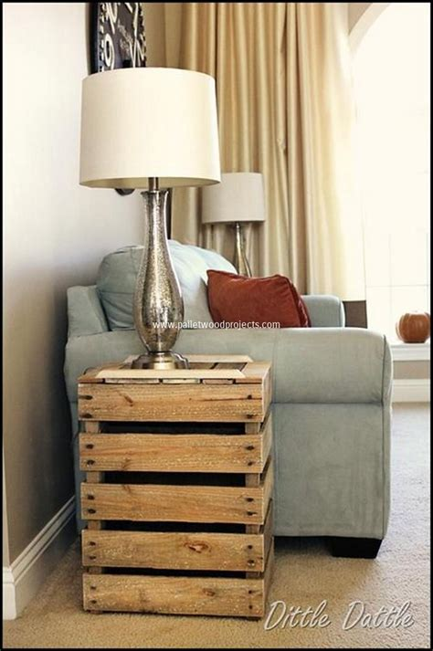 Diy Wood Home Decor Diy Pallet Wood Side Table Plans Pallet Wood Projects