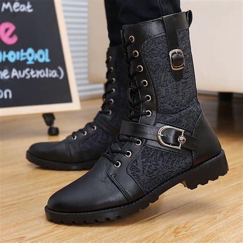Boots Wanita Boots Kulit Winter Boots inspirasi sepatu kulit manding black leather boot shoes