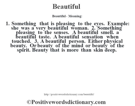 beautiful meaning beautiful definition beautiful meaning positive words
