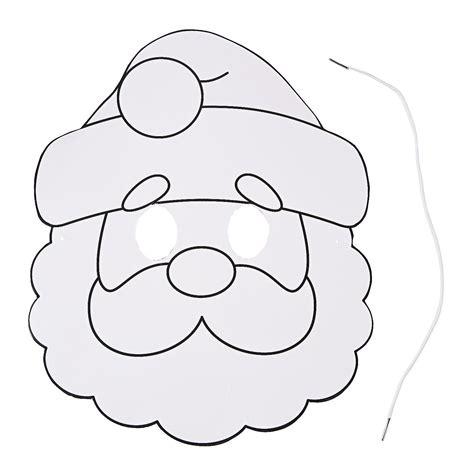 santa mask coloring page color your own santa masks coloring crafts crafts for