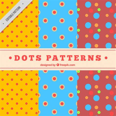 dots pattern freepik colorful polka dot patterns vector free download