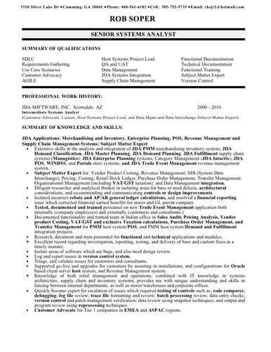 resume sample business analyst inspirational resume examples