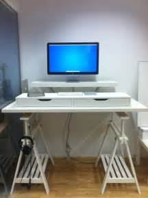 ikea hack computer desk 10 ikea standing desk hacks with ergonomic appeal