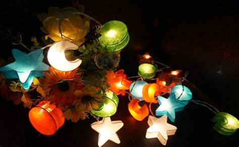 20 Mixed Stars And Moon Paper Lantern String Lights For Paper Lantern Lights Indoor