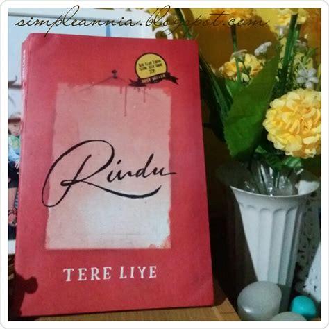 Buku Novel Rindu Tere Liye Republika Yi simple april 2017