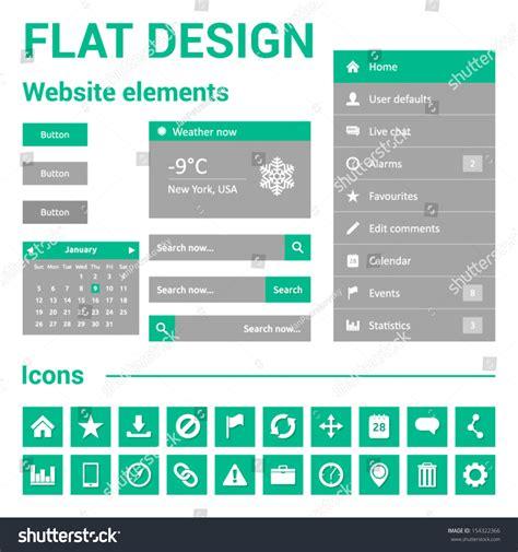 design calendar for website flat design for website web template set symbols