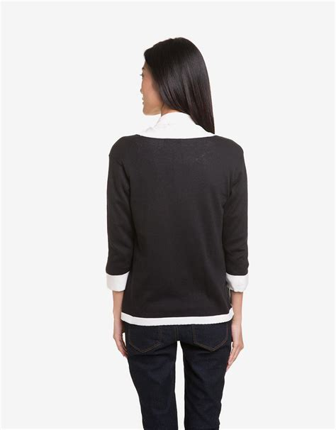 Atasan Wanita Sweater Ro Sweater Wanita Rajut Hitam Dan Navy eprise casual cardigan hitam mataharimall
