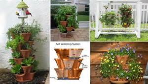 stacking planters with watering system home design garden amp architecture blog magazine