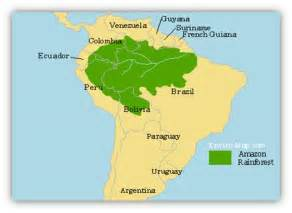 map of the rainforest in south america rainforest map