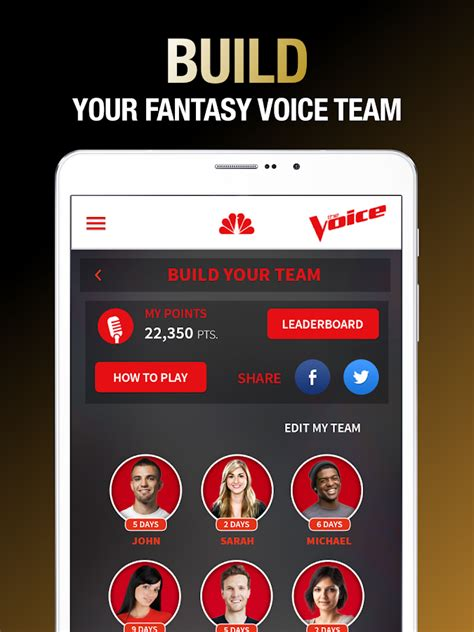 the voice official app on nbc android apps on play - The Voice App Android