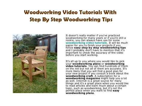 yii tutorial step by step pdf pdf diy woodworking video tutorials download 187 plansdownload