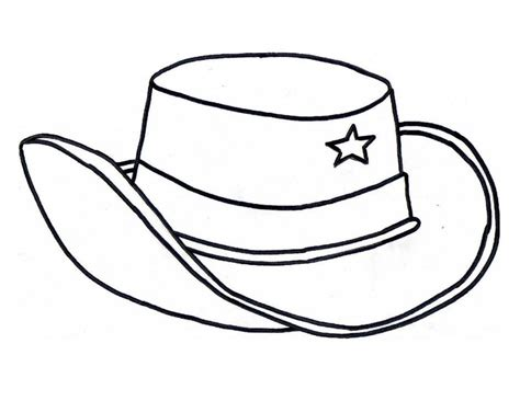Cowboy Hat Coloring Page Az Coloring Pages Hat To Color