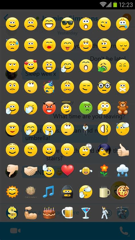 android emoticons skype for android updated with support for emoji more