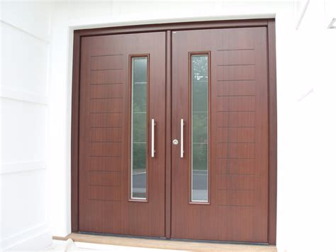 contemporary double front door custom designed double front door in mahagony finish