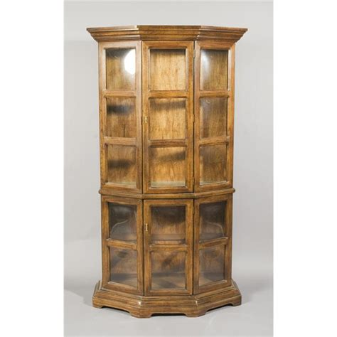 wood and glass curio cabinet vintage wood and glass curio cabinet