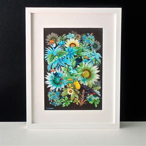 a4 printable wall art tropically toucan a4 framed art print decorque