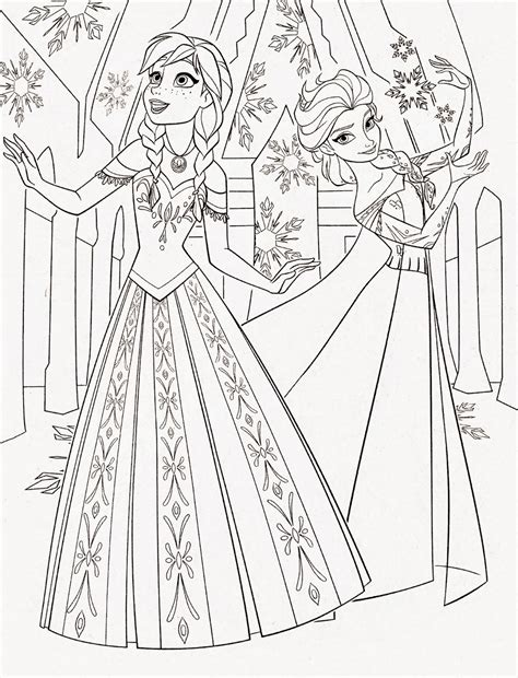 disney princess frozen elsa and anna coloring pages
