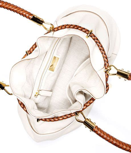 Michael Kors Leather Drawstring Satchel by Michael Kors Skorpios Pebbled Leather Drawstring Satchel