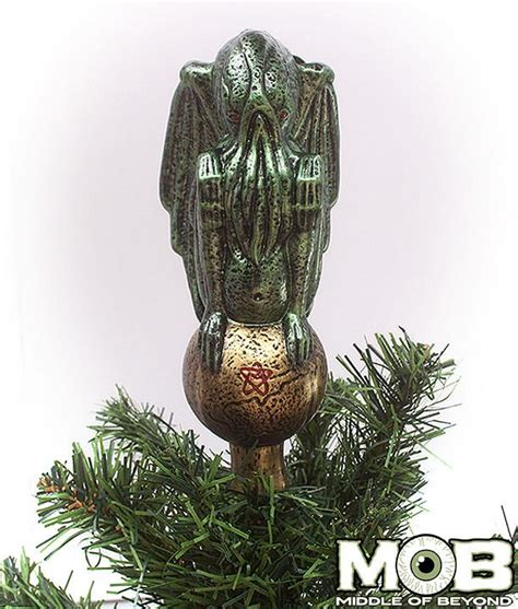 cthulhu ornament cthulhu glass tree topper middle of beyond