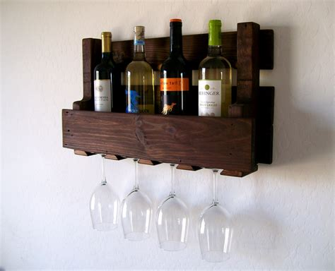 Wine Shelf by Wine Rack Wine Glasses Wine Bottles Pallet Wood Wine Rack