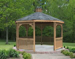 Houses With Cupolas Red Cedar Single Roof Octagon Gazebos Gazebos By Style