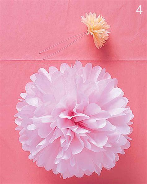 tissue paper flower tutorial martha stewart pom poms and luminarias video martha stewart