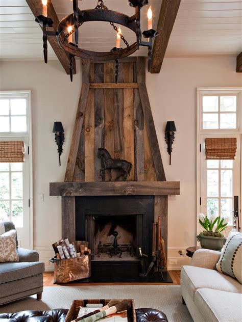 rustic fireplace ideas white transitional living room with reclaimed wood