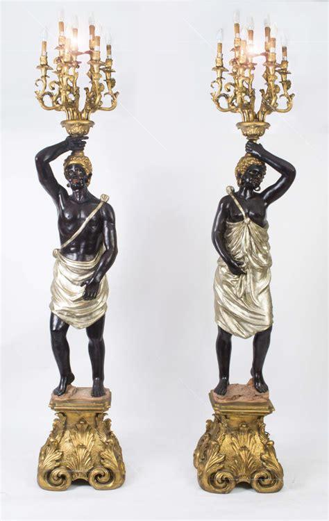 Regent Antiques   Lighting   Table lamps & floor lamps   Pair Blackamoor Wired Candelabra Hand