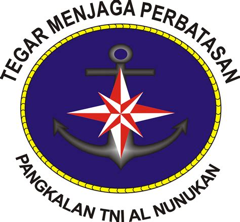 Stiker Timbul Keluarga Besar Tni Al Biru lambang lanal nunukan tolitoli dan stiker tni al ardi