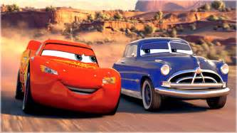 Lightning Mcqueen Cars 1 Racing Doc Hudson Races Lightning Mcqueen Ramone In Cars 1 Rayo