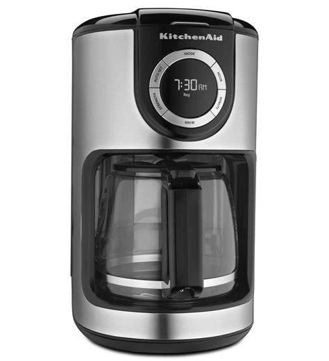 kitchenaid 174 12 cup glass carafe coffee maker kcm1202ob