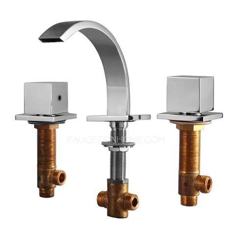 cool split three two handle bathroom sink faucet