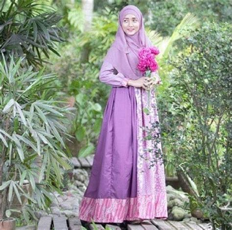 Baju Dress Muslim Terbaru Aneka Model Baju Batik Sarimbit Kombinasi Terbaru
